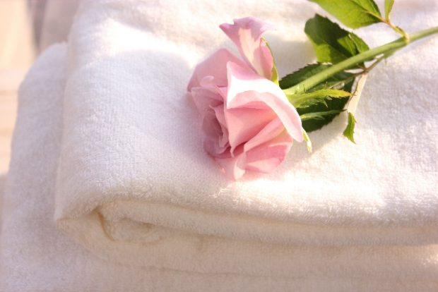 肌を温めるためのタオル